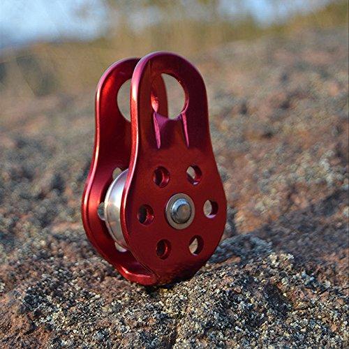 2pcs Aluminum Fixed Side Rope Pulley Carabiner Rock Climbing Arborist Gear
