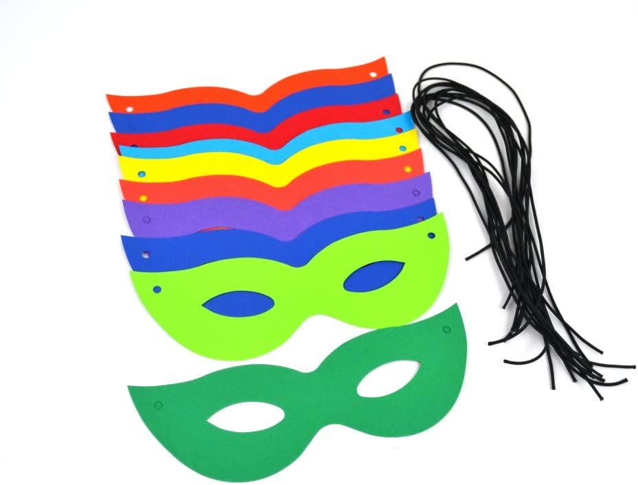 SALE 10 Mixed Bright Card Carnival Masks to Decorate for Kids Crafts