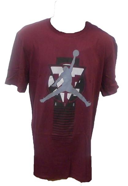 7ddab2b67616 Nike Men s Jordan Tee-Shirt-801600-681 MEDIUM BURGUNDY  Amazon.ca ...
