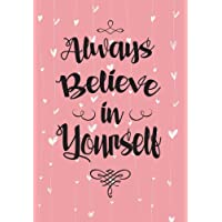 """2018 Calendar Schedule Organizer, Weekly Monthly Planner """"Always Believe in Yourself"""": Baby Pink, 2018 Planner with Inspirational Quotes, Planner 2018 Academic Year, Monthly Weekly Planner 2018, Organizer 2018"""
