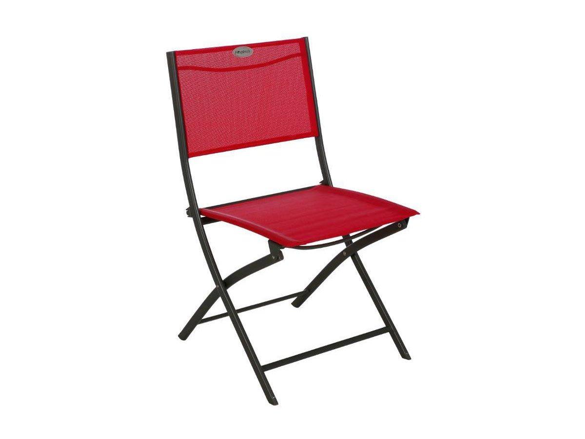Chaise pliante Modula Hesperide framboise//graphite