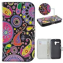 Moto G Case,IVY [Jellyfish] Moto G PU Leather Phone Wallet Case with Kickstand For Motorola Moto G (1st Generation) Phone