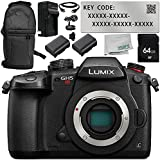 Panasonic Lumix DC-GH5S Mirrorless Digital Camera with V-Log L Function Activation Code 8PC Accessory Bundle – Includes 64GB SD Memory Card + MORE - International Version (No Warranty)