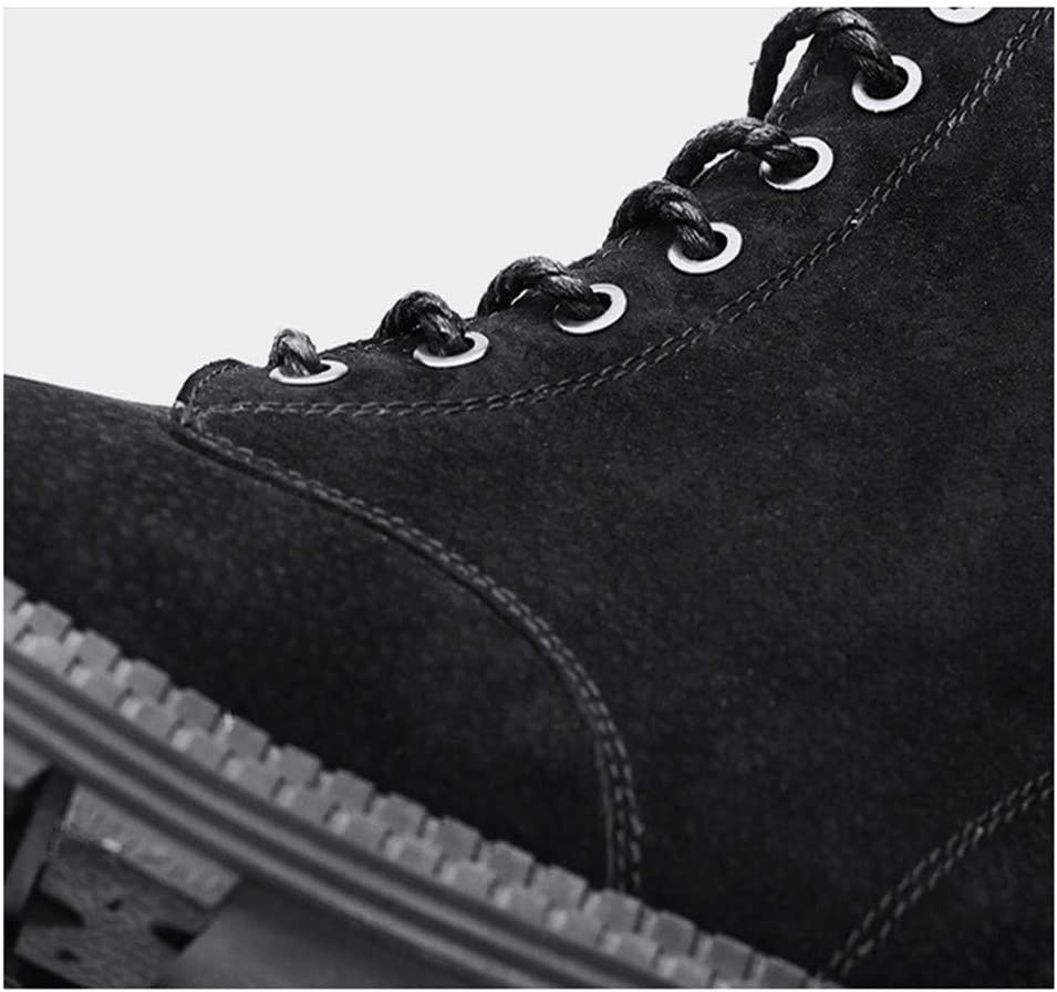 Splaa Bottes d'hiver Martin's Martin Boots Suede PU Lace Up Work Ankle Boots Armée verte