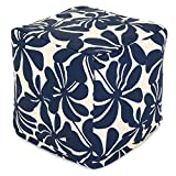 Cheap Majestic Home Goods Navy Blue Plantation Indoor/Outdoor Bean Bag Ottoman Pouf Cube 17″ L x 17″ W x 17″ H