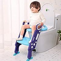 GBlife Siège de Toilette Enfant Pliable Reducteur de Toilette Bébé Échelle de Toilette avec Marches Larges Lunette de Toilette Confortable Souple Enfants Hygiéniques Tabouret