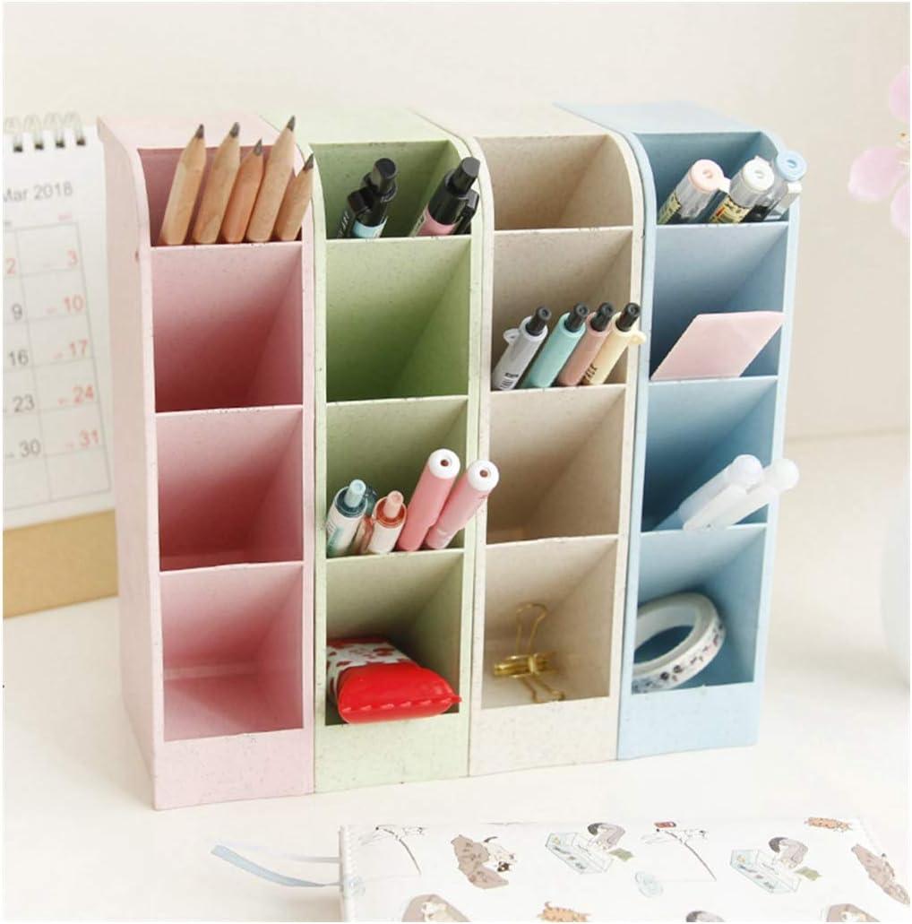 Office Desk Organizer Pen Storage Holder Caddies for Pencil/Desk Supplies/Markers/Gel Pens/Paint Brushes Storage Racks,Set of 4, 16 Compartments
