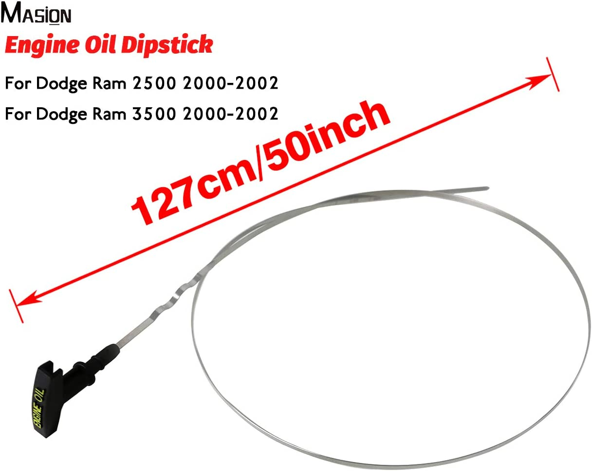MASION Engine Oil Level Dipstick for Dodge Ram 2500 3500 Diesel 2000-2002 5080582AA 121cm