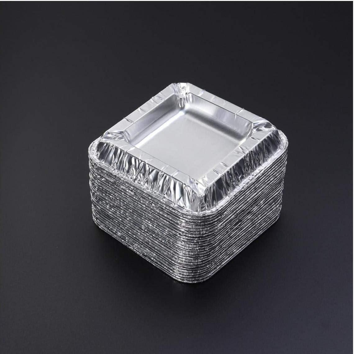 AYRSJCL 25Pc Aluminum Foil Unbreakable Disposable Ashtray C Anti-Fall Small Portative Cigar Ashtray