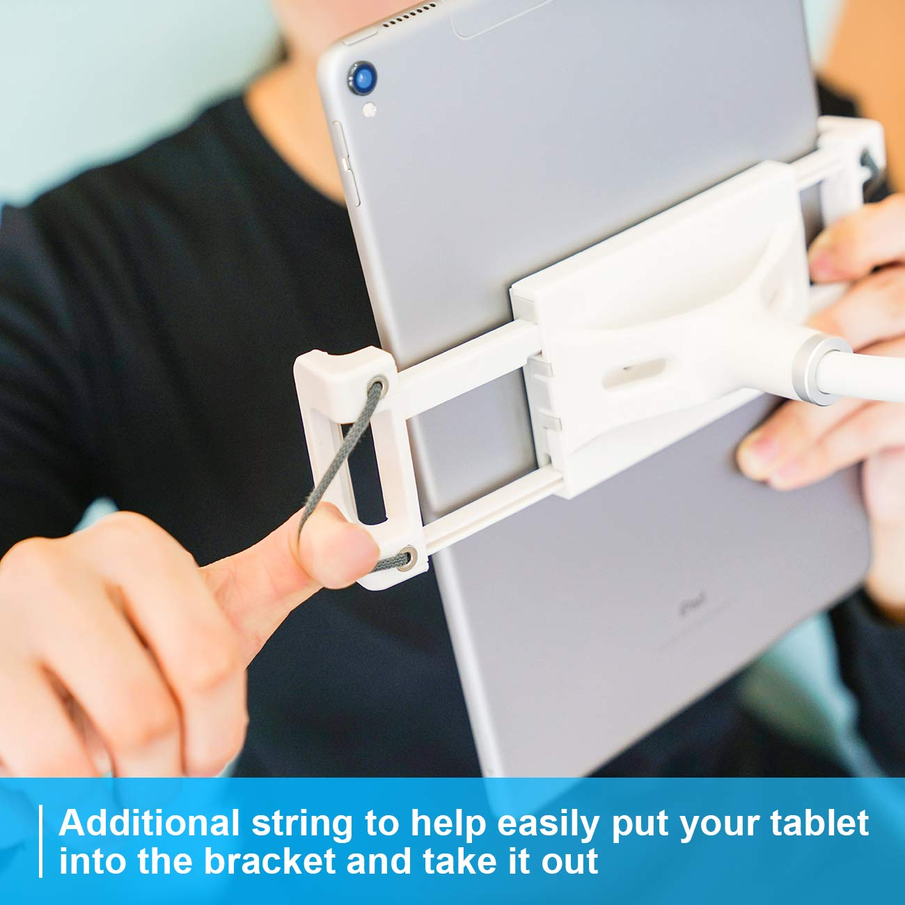 Gooseneck Tablet Holder, Lamicall Tablet Stand: Lazy Holder Flexible Long Arm Tablet Mount Compatible with iPad Mini 2 3 4, iPad Pro, iPad Air, Phone XS Max XR X 8 7 6 Plus and More 4-10.5 in Devices by Lamicall (Image #5)