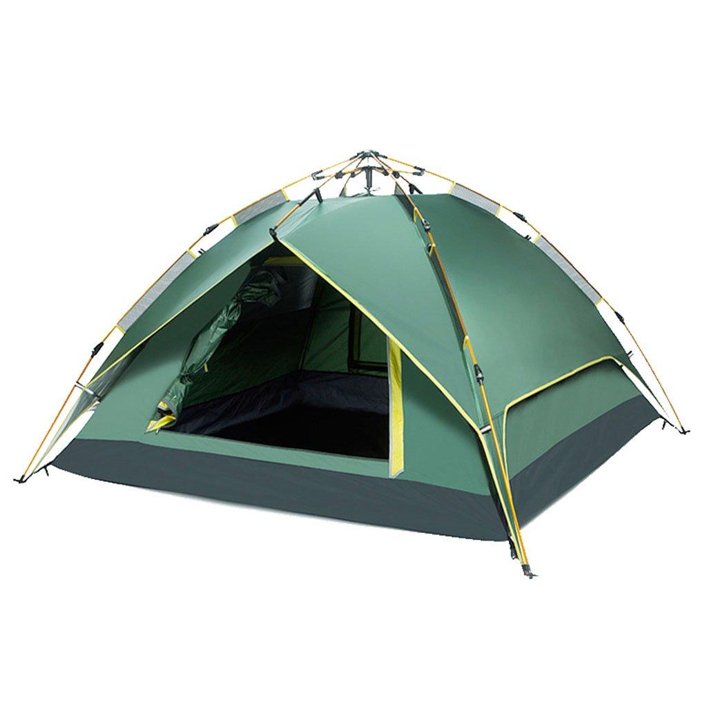 TENT-L ZP Zelt, automatische Regendicht Familie Camping im Freien huwaizhangpeng (Farbe : Grün)