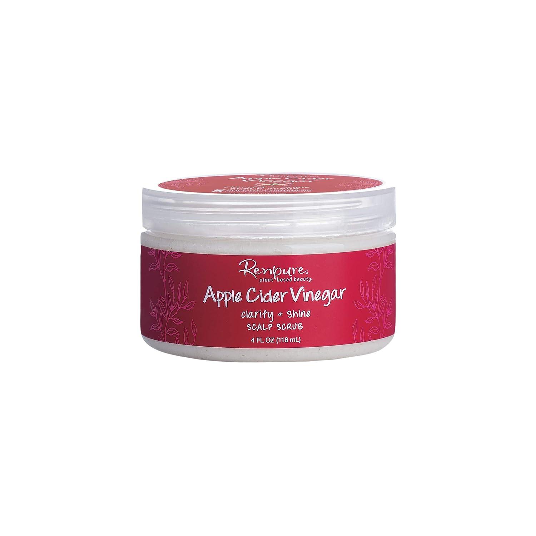 Renpure plant-based Beauty Apple Cider Vinegar Clarify + Shine Scalp Scrub, 4 Fluid Oz
