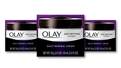 Olay Age-Defying Classic Daily Renewal Moisturizer Cream (Pack of 3)