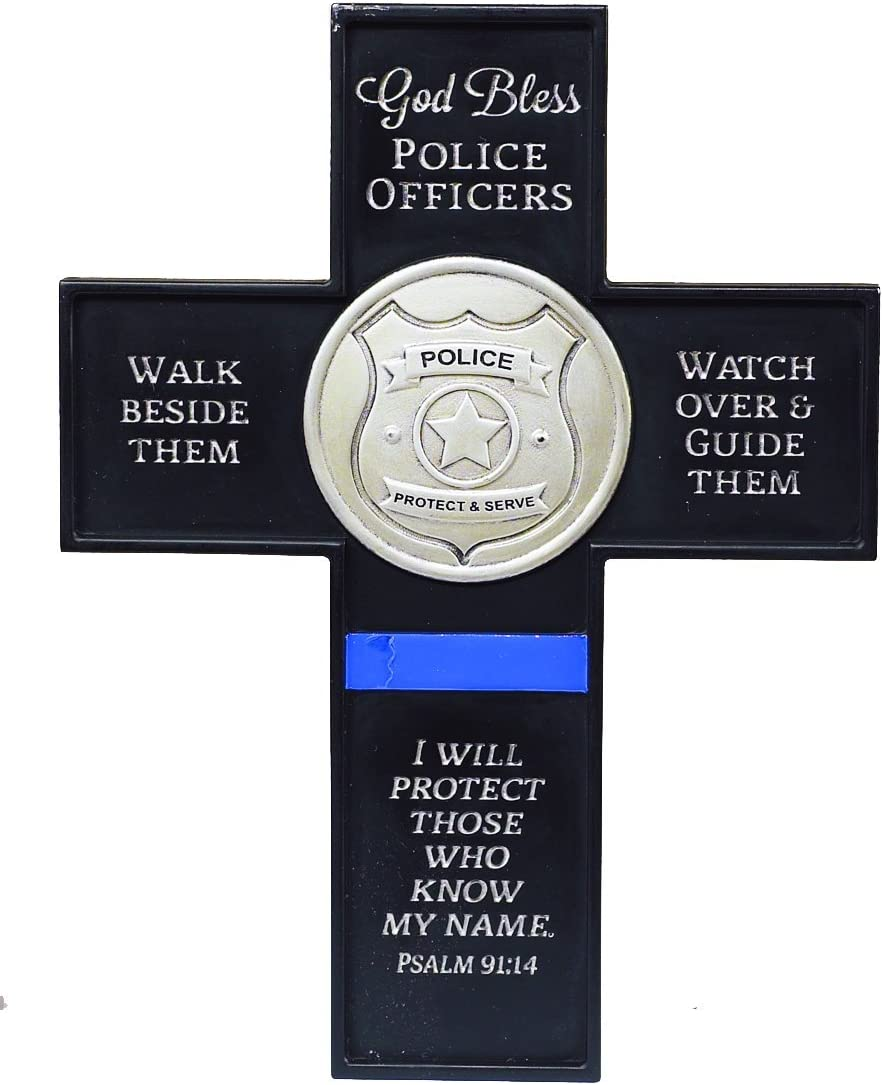 Abbey Gift God Bless Police Officers Cross