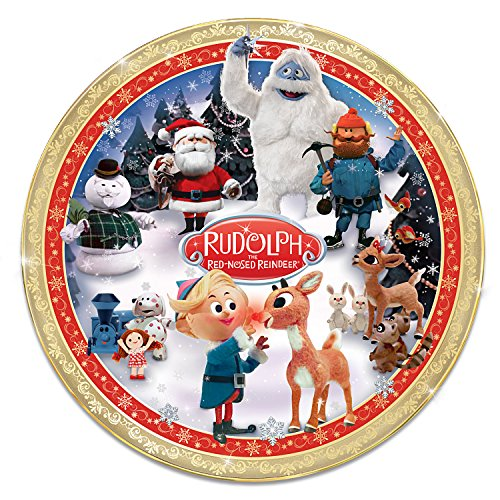 (Rudolph the Red-Nosed Reindeer Heirloom Porcelain Collector Plate by The Bradford Exchange)