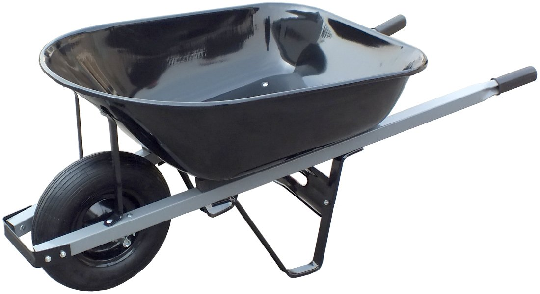 United General WH89693 Steel Tray Wheelbarrow, 6 Cubic-Feet, 20-Gallon by United General