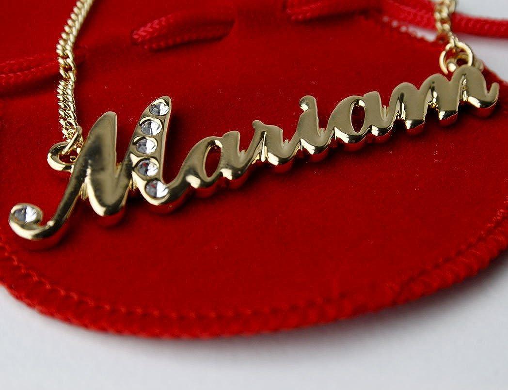 Amazon com: Zacria Name Necklace Mariam 18K Gold Plated: Jewelry