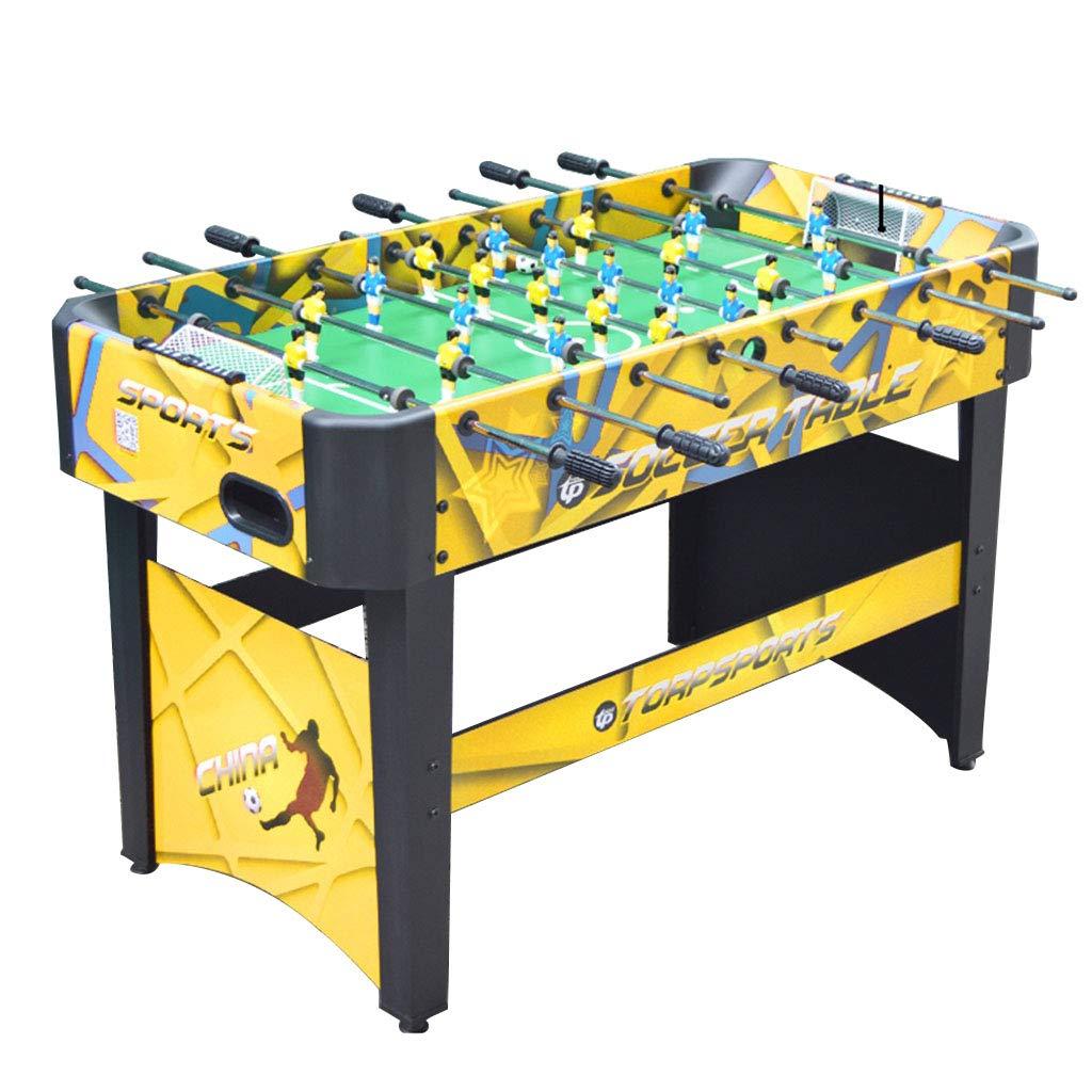 大人の屋内サッカーマシン 子供用テーブルサッカー玩具 家庭の親子インタラクティブビリヤード マルチプレイヤースポーツ用卓球 子供用教育玩具 子供向けの最高の贈り物 (Color : Yellow, Size : 120*60*80cm) B07MNZJN9F Yellow 120*60*80cm