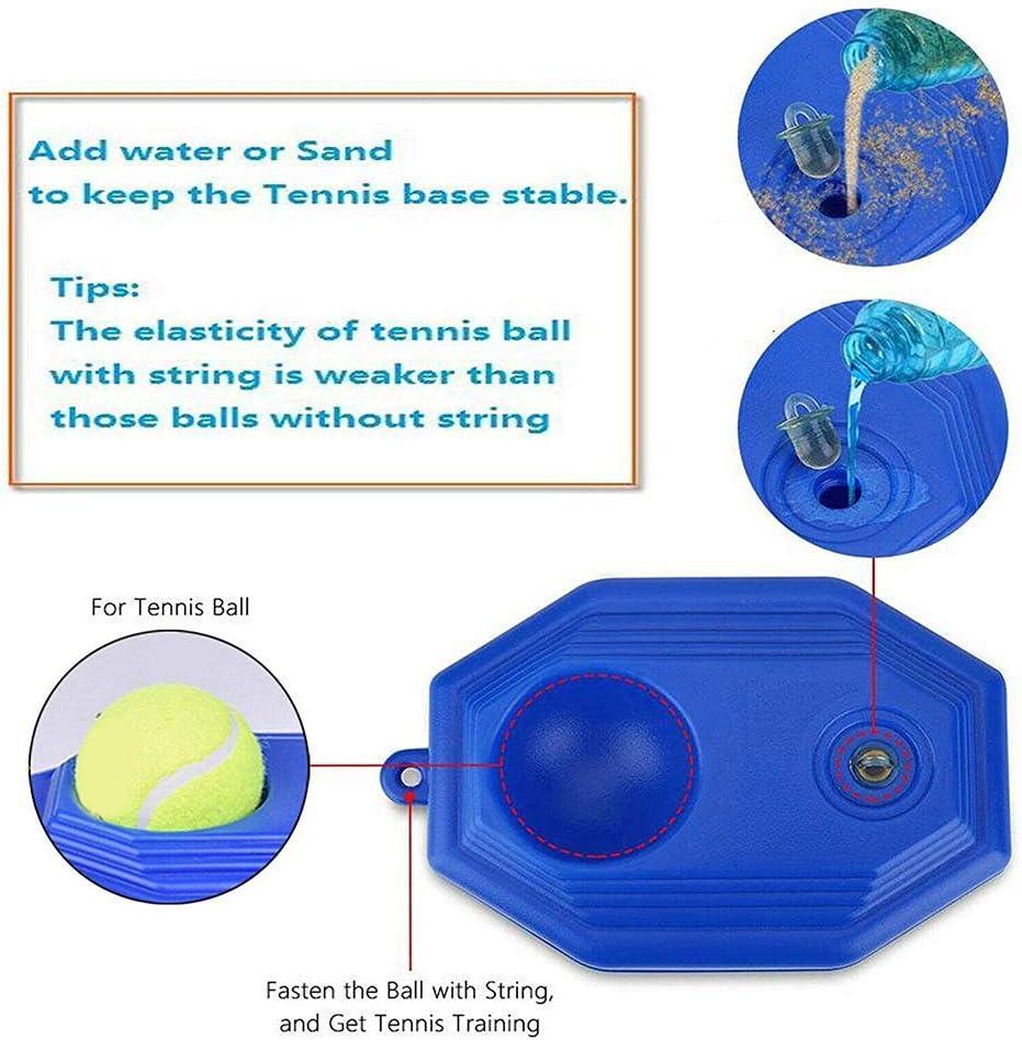 Yuciya Tennis Ball Back Trainer Tennis Trainer Tennis Ball Back Trainer Baseboard with Rope Self-Study Tennis Rebound Ball Practice Equipment