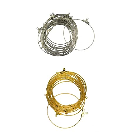 40x Vintage Wire Beading Hoop Loop Earring Components Jewelry Making Crafts