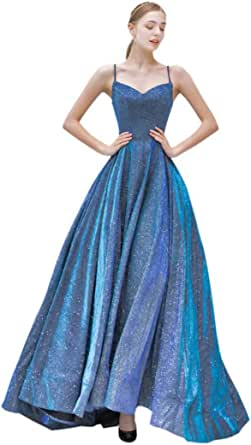 Dommydress Glitter Sequin Prom Dress Evening Gowns with
