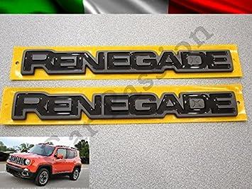 Par palabras logotipos Escudo Jeep Renegade laterales ORIGINALES derecha y izquierda: Amazon.es: Coche y moto