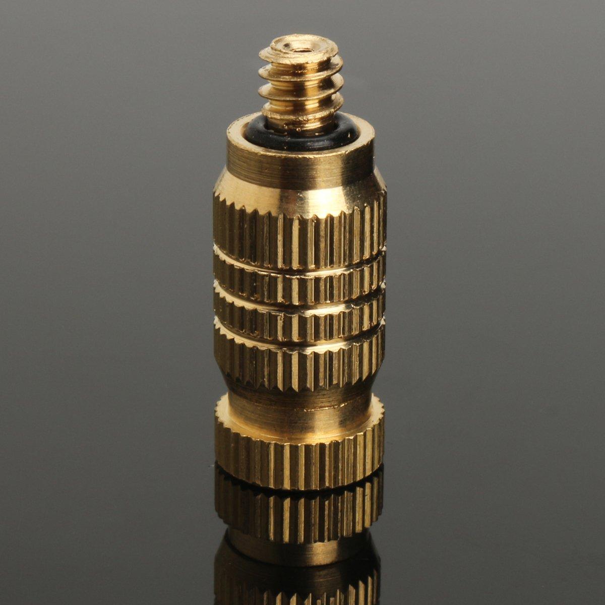 10Pcs 4mm Male Threaded Brass Misting Fogging Nozzle Spray Sprinkler Head Irrigation Cooling by Ologymart (Image #4)