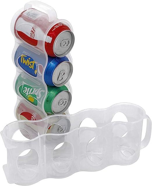 Holder Can Storage Soda Kitchen Fridge Saver Organizer Rack Plastic 4 in 1 Safe
