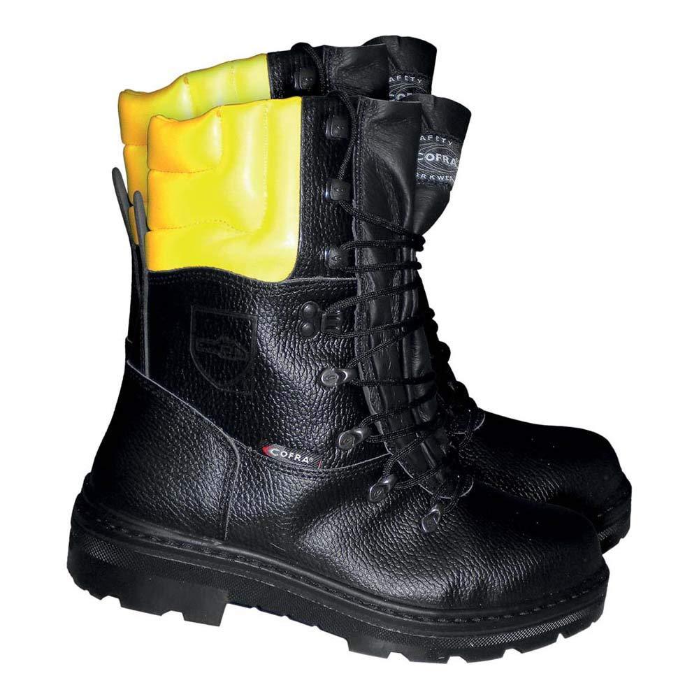 Cofra, Woodsman BIS Botas resistentes a cortes resistentes para trabajadores forestales, 45, Negro