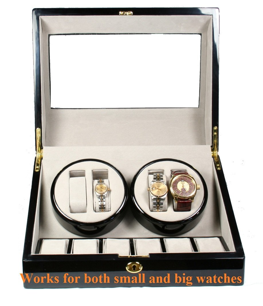 Top Quality Quad Watch Winder 4+6 Storage Box Case by Kendal (Image #4)