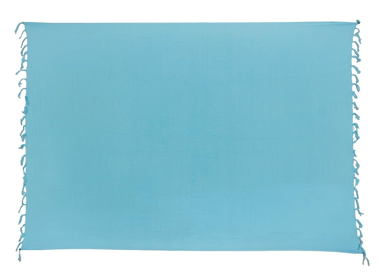 Sarong ca. 170cm x 110cm Einfarbig Unifarben Handgefertigt inkl. Sarongschnalle im Runden Design - Alle Farben zur Auswahl - Pareo Dhoti Lunghi