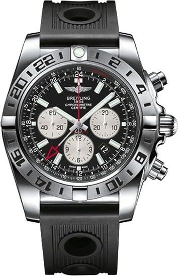 Breitling Chronomat - Reloj de Pulsera para Hombre, con Cronógrafo Automático y Pulsera de Caucho AB0413B9/BD17/201S: Amazon.es: Relojes