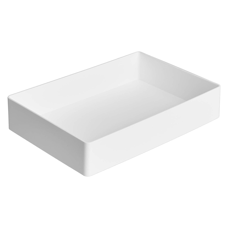 AmazonBasics Plastic Organizer - Accessory Tray, White
