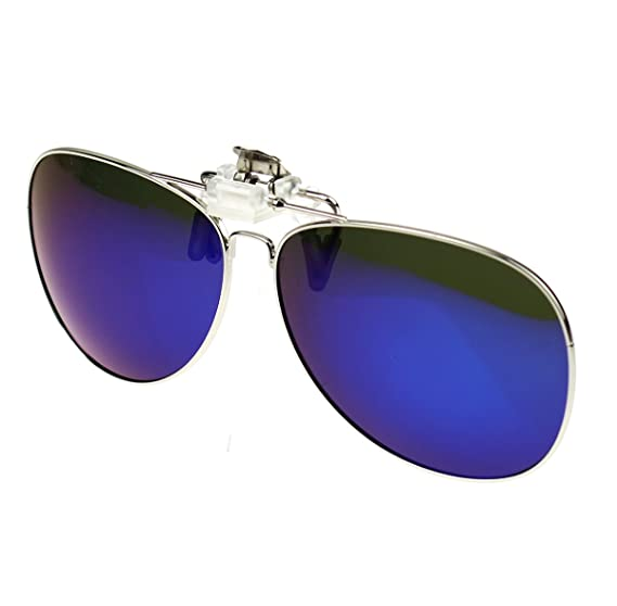 eb3b8d99458 Jaky Polarized Metal Clip-on Flip up Clip Sunglasses Yellow Night Vision  Lens Glasses Driving