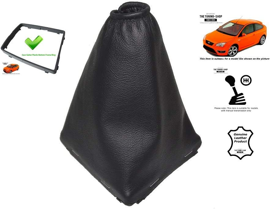 The Tuning Shop Gear Gaiter with Bottom Plastic Frame Leather