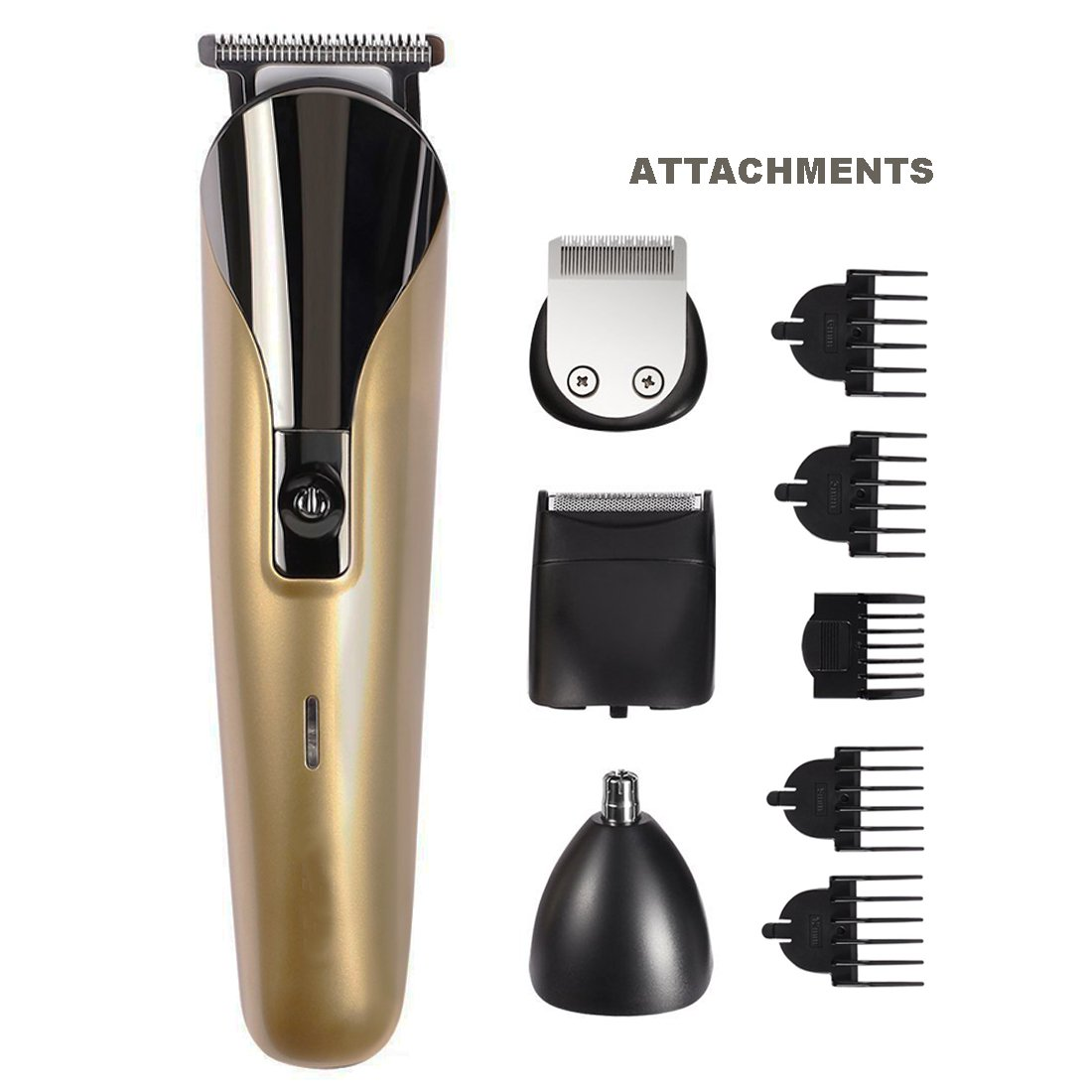 Professional 8 in 1 Electric Blade Men's Trimmer of Body & Ear & Nose Mens Hair Clipper Electric Shaver Beard Trimmer Rechargeable Cutting Machine Haircut Men's Personal Care Electric Nose Ear Hair Trimmer Groomer Shaver Cordless Wondermall