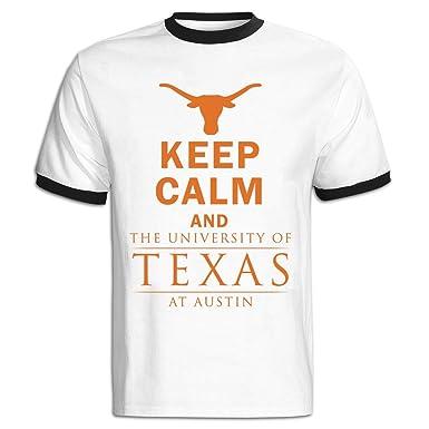 f195684579cb33 Amazon.com: Men's Keep Calm And University Of Texas At Austin Baseball Tee  Shirt Red: Clothing