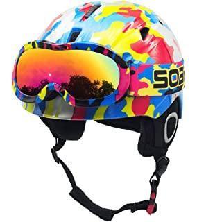 86eb8c9e9d3a BeBeFun Toddler and Kids Snow Sports Ski Helmet and with Matching Goggles