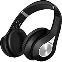 Mpow Bluetooth Headphones, Bluetooth Wireless Over-ear Stereo Headset, Foldable Bluetooth Headphone with Soft Earmuffs for Cellphones/ PC/ Tablets (Delicate Carrying Case Included) - Black