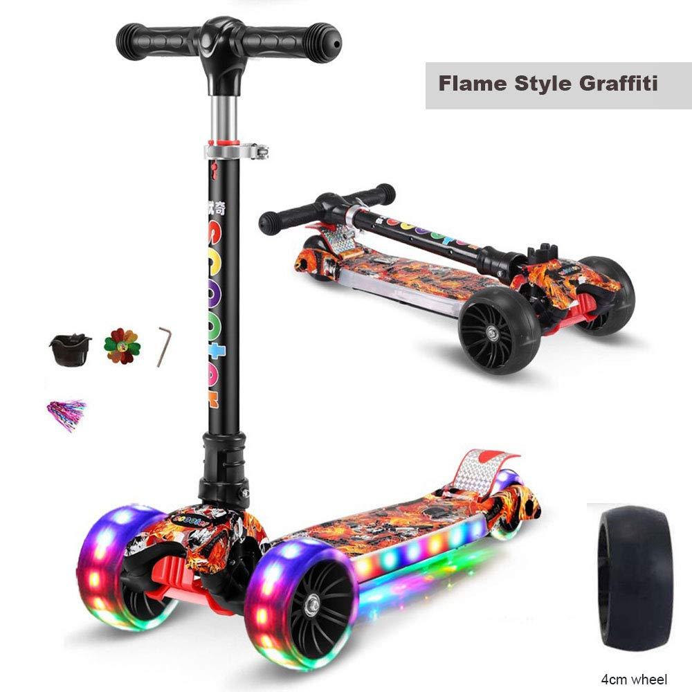 buena calidad Flame Style LIJIAN LIJIAN LIJIAN Scooter de niños, con 3 Ruedas, Plegable en Altura, con Rueda de Destello de PU - 90 kg Flame Style  ahorre 60% de descuento