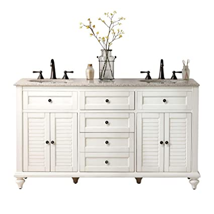 Home Decorators Collection Hamilton Shutter Double Bath Vanity 35 Hx61 Wx22 D Ivory
