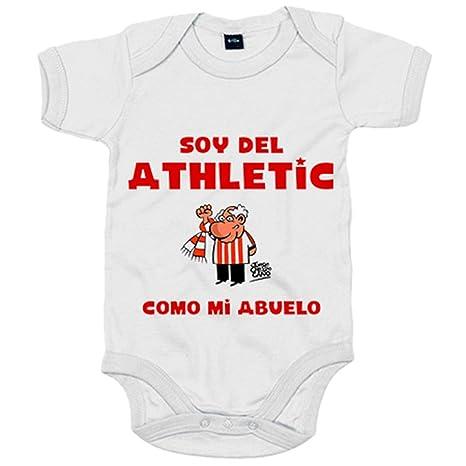 Body bebé soy del Athletic como mi abuelo Jorge Crespo Cano - Blanco ... 6001d239b2e58