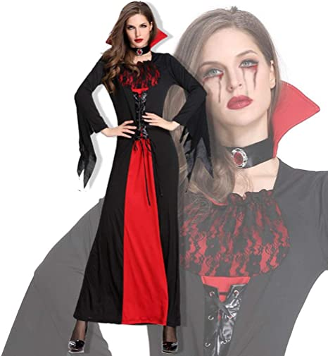 TINGSHOP Disfraces De Vampiro para Mujer, Vampiro Victoriano Queen ...