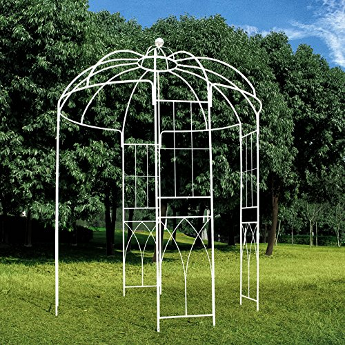 Outour French Style 4 Sided Birdcage Shape Metal Gazebo