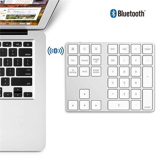 HUAXM Bluetooth Teclado numérico, 34-Clave portátil inalámbrico ...