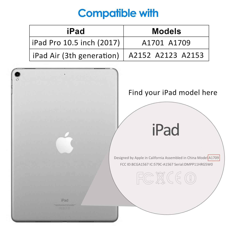 JETech Film de Protection d/écran Compatible iPad Air 3 2017 en Verre Tremp/é 10,5 Pouces Mod/èle 2019 Lot de 2 et iPad Pro 10,5