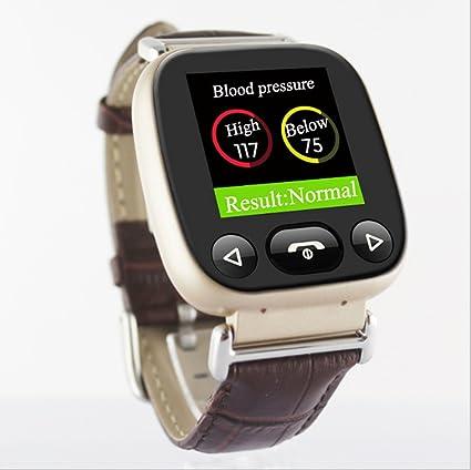 Smartwatches para padres mayores, Bluetooth teléfono relojes desbloqueado tarjeta SIM con GPS rastreador frecuencia cardíaca