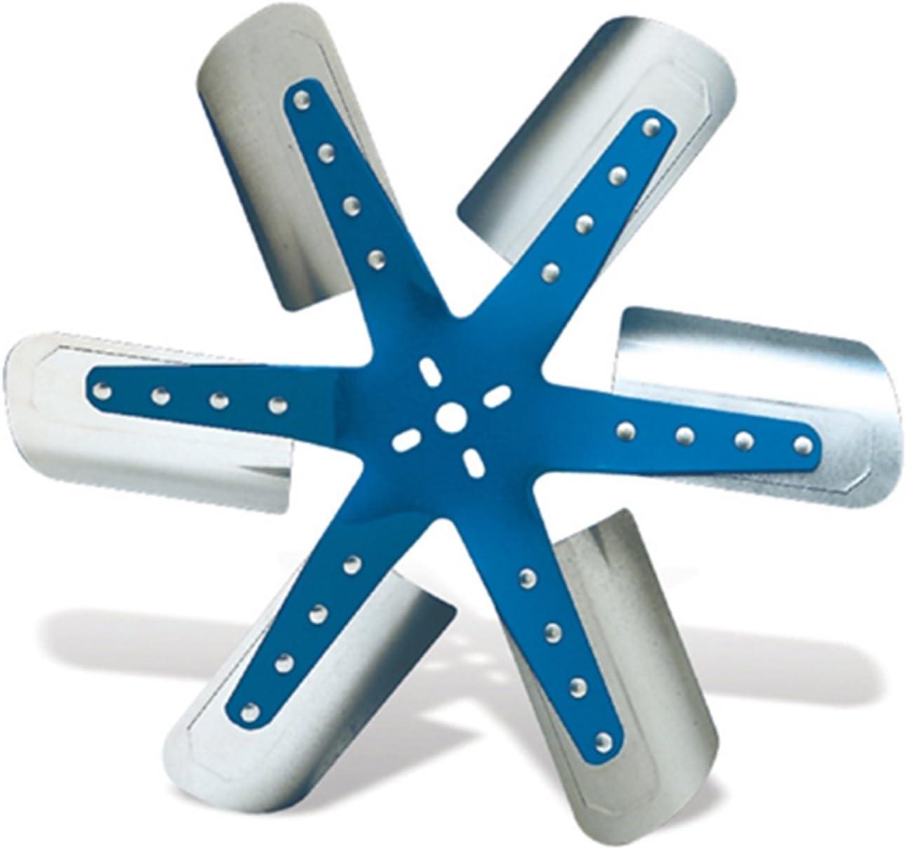 Flex-a-lite 1316 Blue Star Stainless Steel 6-Blade 16 Flex Fan