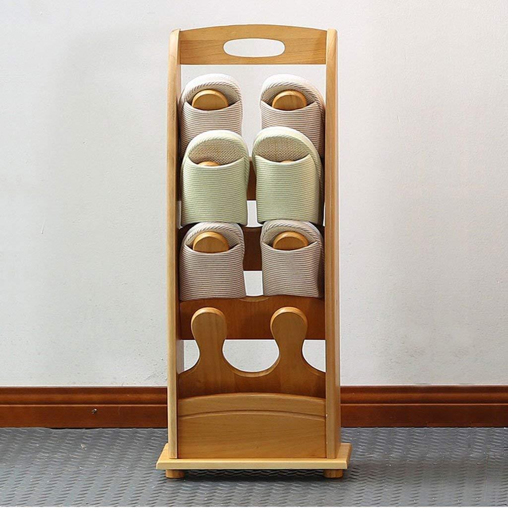 FuweiEncore Zapatillas de Bastidor de Madera Maciza Piso Simple de Varias Plantas del Zapato del gabinete Zapatero (30  16.5  75cm) Accesorios de la estantería (Color : -, tamaño : -)