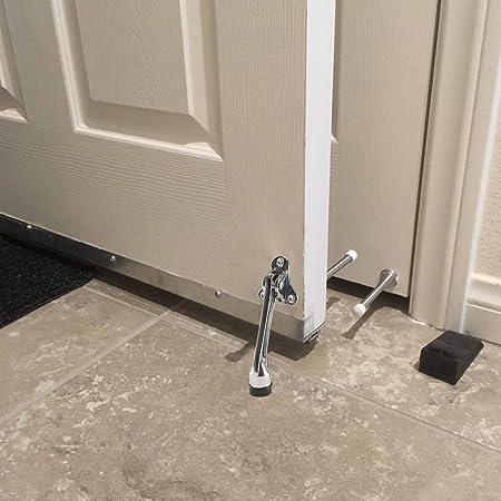 Heavy Door ETSAMOR 2 Pack 5 Inches Metal Kickdown Door Stop with Soft Rubber Bumper for Garage Gate Office Door Stopper Adjustable Height Home